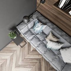 Mieszkanie z odcieniem loftu w Krakowie: styl , w kategorii Domowe biuro i gabinet zaprojektowany przez LINEUP STUDIO