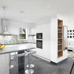 مطبخ تنفيذ Julie LEFEVRE - Design d'Espace et Rendu 3D