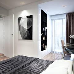 NỘI THẤT CĂN HỘ MASTERI M-ONE QUẬN 7:  Phòng ngủ by RIKATA DESIGN,