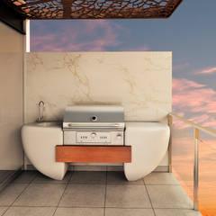 TERRAZA : Terrazas de estilo  por Luis Escobar Interiorismo