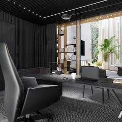 / 01.19 / H1 near Warsaw / Poland: styl , w kategorii Domowe biuro i gabinet zaprojektowany przez modeko.studio