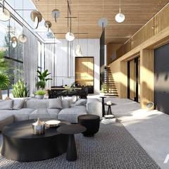 / 01.19 / H1 near Warsaw / Poland: styl , w kategorii Salon zaprojektowany przez modeko.studio