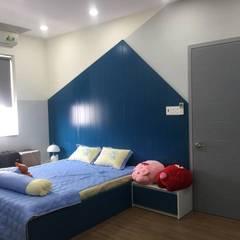 Hoàn Thiện Nội Thất Dự Án Nhà Liền Kề Lovera Park Bình Chánh:  Phòng ngủ bé trai by Công ty TNHH Thiết Kế Xây Dựng Song Phát