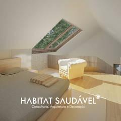 Casa Fibonacci Quartos campestres por Habitat Saudável - consultoria, arquitetura e decoração Campestre