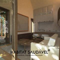 Casa Fibonacci : Salas de estar  por Habitat Saudável - consultoria, arquitetura e decoração,Campestre