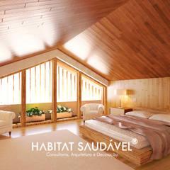 Casa da Fonte Quartos campestres por Habitat Saudável - consultoria, arquitetura e decoração Campestre