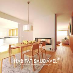 Casa da Fonte Salas de jantar campestres por Habitat Saudável - consultoria, arquitetura e decoração Campestre