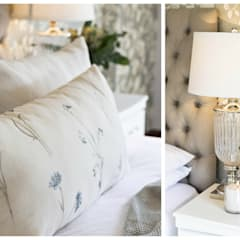 Country Inspired Master Bedroom:  Bedroom by Joseph Avnon Interiors, Classic