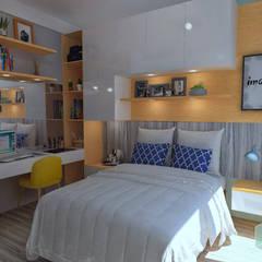 Arquitectura de interiores en vivienda en SMP: Cuartos pequeños  de estilo  por LS Arquitectura, diseño y acústica,