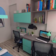 Arquitectura de interiores en vivienda en SMP: Cuartos para niños de estilo  por LS Arquitectura, diseño y acústica