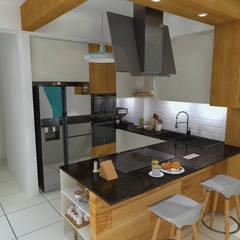 Arquitectura de interiores en vivienda en SMP: Cocinas pequeñas de estilo  por LS Arquitectura, diseño y acústica