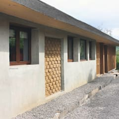 CASA MALLARAUCO - diseño y construcción - Mallarauco / Melipilla / Santiago: Casas ecológicas de estilo  por ALIWEN arquitectura & construcción sustentable - Santiago
