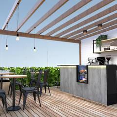 Balcón de estilo  por Patricia Picelli Arquitetura e Interiores