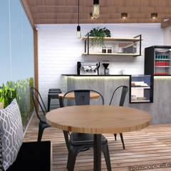 Café: Varandas  por Patricia Picelli Arquitetura e Interiores