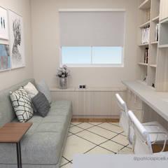 مكتب عمل أو دراسة تنفيذ Patricia Picelli Arquitetura e Interiores , حداثي