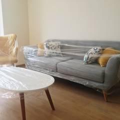 PROYECTO EXCELLENCE - SALA : Salas / recibidores de estilo  por NF Diseño de Interiores