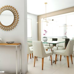 PROYECTO RESIDENCIAL ANIA : Comedores de estilo  por NF Diseño de Interiores