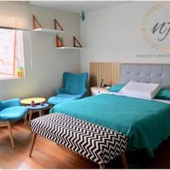 PROYECTO RESIDENCIAL - Dormitorio Jovencita: Dormitorios de estilo  por NF Diseño de Interiores