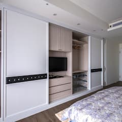 Habitaciones pequeñas de estilo  por 富亞室內裝修設計工程有限公司