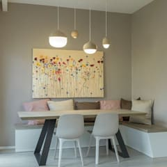 2BHK COMPLETE RENOVATION Modern dining room by decormyplace Modern Plywood
