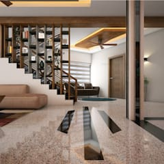 Stair designs:  Corridor & hallway by Monnaie Architects & Interiors