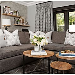 TV Rooms :  Media room by Joseph Avnon Interiors,