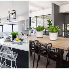 Beach House Living :  Dining room by Joseph Avnon Interiors, Classic