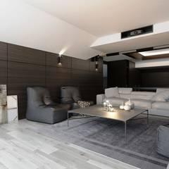 Мужской кабинет: Рабочие кабинеты в . Автор – Студия Aрхитектуры и Дизайна 'Aleksey Marinin'