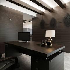 Study/office by Студия Aрхитектуры и Дизайна 'Aleksey Marinin'