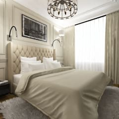 Habitaciones pequeñas de estilo  por Студия Aрхитектуры и Дизайна 'Aleksey Marinin'
