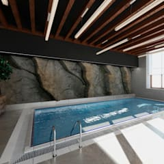 Infinity pool by Студия Aрхитектуры и Дизайна 'Aleksey Marinin', Minimalist Stone