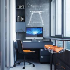 Апартаменты Loft & Wood: Рабочие кабинеты в . Автор – Suiten7
