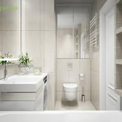 Дизайн трехкомнатной квартиры 60 кв. м в стиле неоклассика: Ванные комнаты в . Автор – ЕвроДом