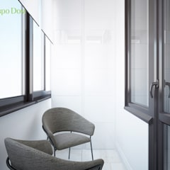 Дизайн трехкомнатной квартиры 85 кв. м в современном стиле. Фото проекта: балконы в . Автор – ЕвроДом