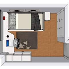 Habitación Infantil : Habitaciones de niñas de estilo  de Muebles m2
