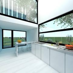 'Living together apart' Villa ontwerp Kaag Moderne keukens van Dinges Design Modern Glas