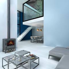 'Living together apart' Villa ontwerp Kaag Moderne woonkamers van Dinges Design Modern