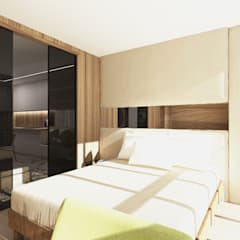 Dormitorios pequeños de estilo  por Студия Aрхитектуры и Дизайна 'Aleksey Marinin'