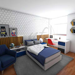 PROYECTO ARREDONDO: Dormitorios de estilo  por NF Diseño de Interiores