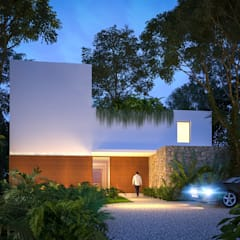 Detached home by Manuel Aguilar Arquitecto
