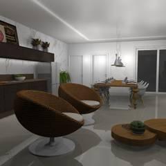 Casa J&G: Varandas  por Lorenna Nogueira
