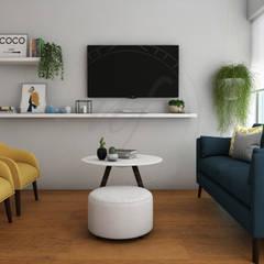 PROYECTO SALA Y COMEDOR   - CHARIARSE- : Salas / recibidores de estilo  por NF Diseño de Interiores