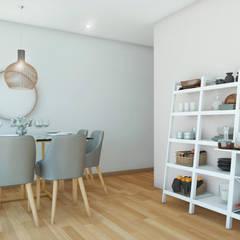 PROYECTO SALA Y COMEDOR   -  LE SAULE LINCE- : Comedores de estilo  por NF Diseño de Interiores