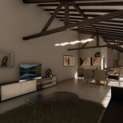 Casa SMC: Livings de estilo  por Luis Barberis Arquitectos