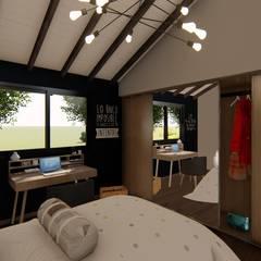 Casa SMC: Dormitorios pequeños de estilo  por Luis Barberis Arquitectos