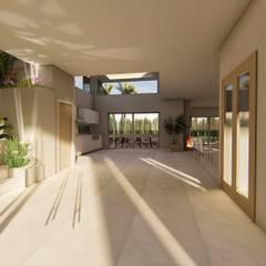 Casa AZT: Pasillos y recibidores de estilo  por Luis Barberis Arquitectos,Moderno