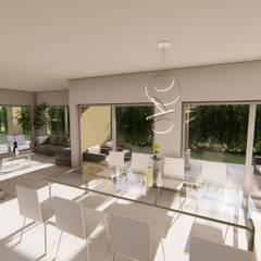 Casa AZT: Comedores de estilo  por Luis Barberis Arquitectos