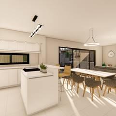 Casa MPME: Cocinas a medida  de estilo  por Luis Barberis Arquitectos,Minimalista