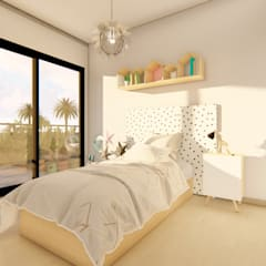 Girls Bedroom by Luis Barberis Arquitectos