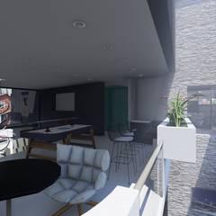 Media room by Luis Barberis Arquitectos